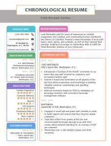 sample chronological resume-format